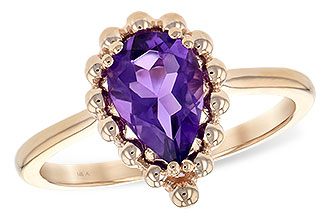 A189-85884: LDS RING 1.06 CT AMETHYST