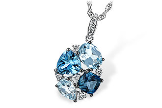 C189-83093: NECK 2.60 BLUE TOPAZ 2.70 TGW