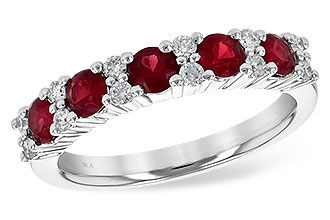D190-74084: LDS WED RG .88 RUBY 1.12 TGW