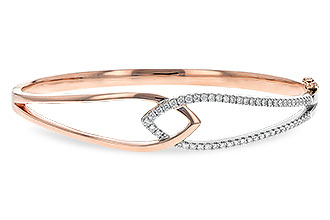 F189-89529: BANGLE BRACELET .50 TW (ROSE & WG)