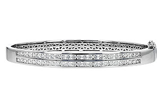 G189-90420: BANGLE BRACELET 2.00 TW (2 ROW)