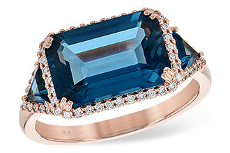 G190-74947: LDS RG 4.60 TW LONDON BLUE TOPAZ 4.82 TGW