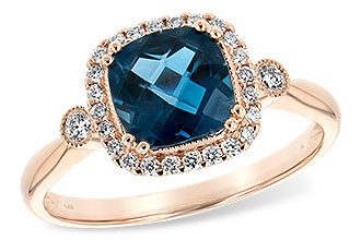 K189-83111: LDS RG 1.62 LONDON BLUE TOPAZ 1.78 TGW